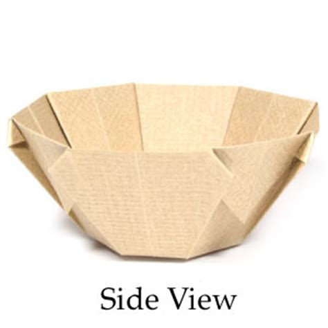 Paper Bowl Origami - how to make a 3d origami bowl page 1