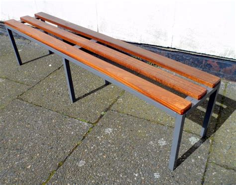 vintage metal bench vintage gym changing room grey metal hardwood bench