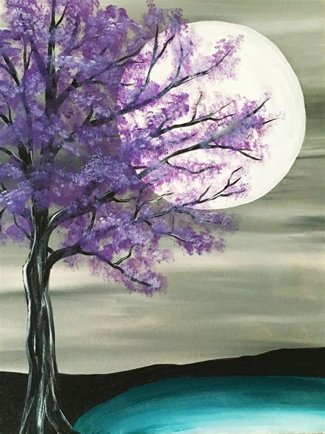 Purple Wall Mural best 25 tree paintings ideas on pinterest painted trees