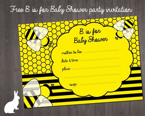 Free Party Printables Ruby And The Rabbit Bumble Bee Invitation Template Free