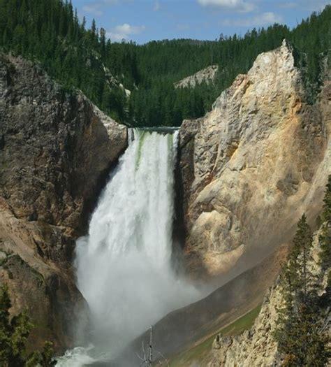 yellowstone lower falls waterfall in yellowstone panoramio photo of yellowstone lower falls yellowstone