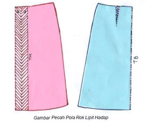 membuat pola baju gamis cara membuat pola rok lipat hadap danitailor
