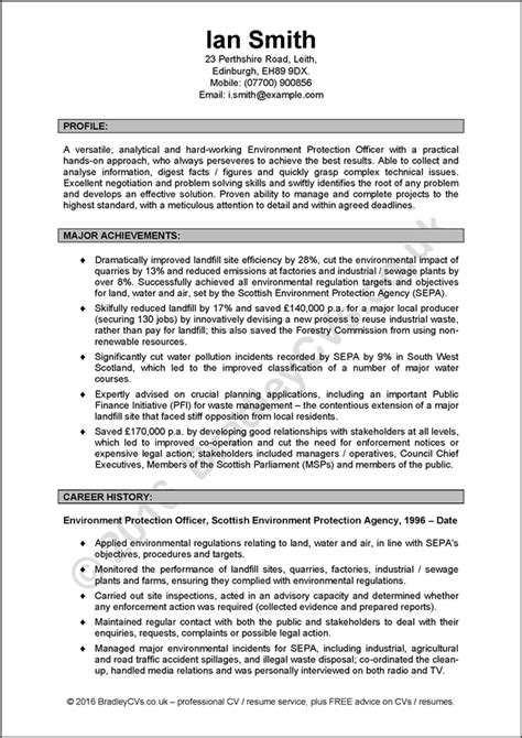Resume Uk Cv Exles Uk And International By Bradley Cvs
