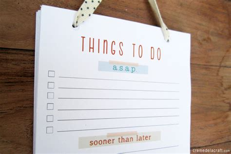 diy to do list notepad with free printable