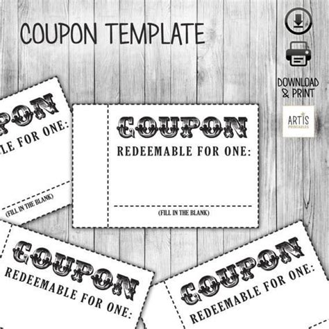 coupon book template coupon book coupon for empty coupon date diy