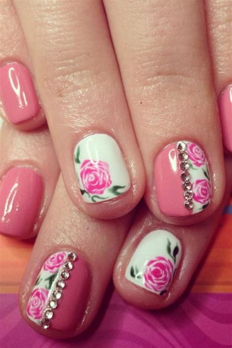 flower nail design 30 pretty flower nail designs hative