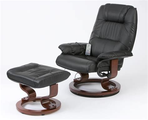 leather massage chair recliner deluxe leisure medical massage chair and stool leather