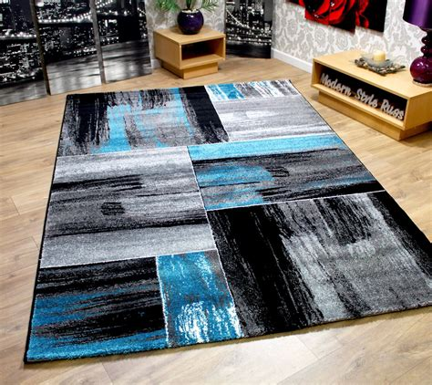Modern Square Rug Modern Square Pattern Contemporary Designer Rugs Black Green Pink Blue Brown Ebay