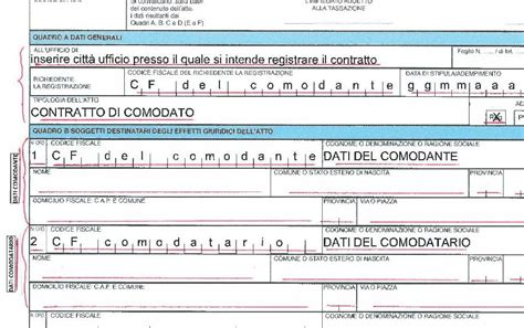 comodato d uso gratuito bene mobile registrazione contratto comodato uso tovaglioli di carta