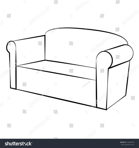 Sofa Sketch Freehand by Sofa Freehand Drawing Icon Black White Stock Vector