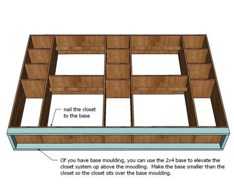 Free Closet Organizer Plans by Closet Storage Organizer Woodworking Plans Woodshop Plans