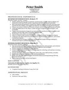 Lead Instructor Sle Resume by Sle Resume Resume Sle Visual Best Free Home Design Idea Inspiration