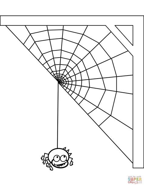 87 Spider Web Coloring Pages Printable Spider Web Coloring Page From Freshcoloring Spider Web Coloring Pages