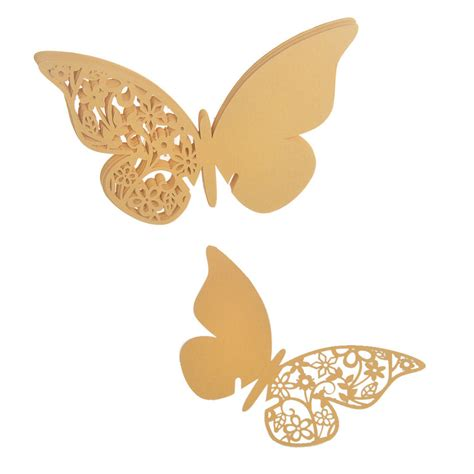 Paper Weight Butterfly 03 Small Dec66 Gold 12pcs gold butterfly laser cut paper place wine glass card for wedding decoration wedding look