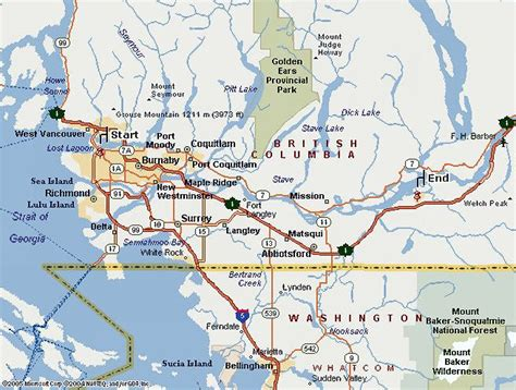 map of usa and canada west coast vancouver maps navigate easily around vancouver with