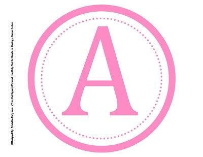 printable letters in pink large circle printable alphabet letters a z 8 inch