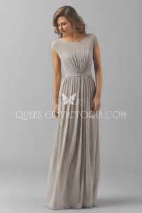 Champagne Wedding Dress Cap Sleeves A Line Long Pleated Simple Chiffon Dresses For Bridesmaids Queen Of Victoria