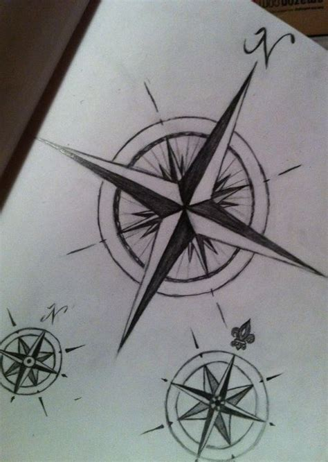 nautical rose tattoo compass drawings nautical