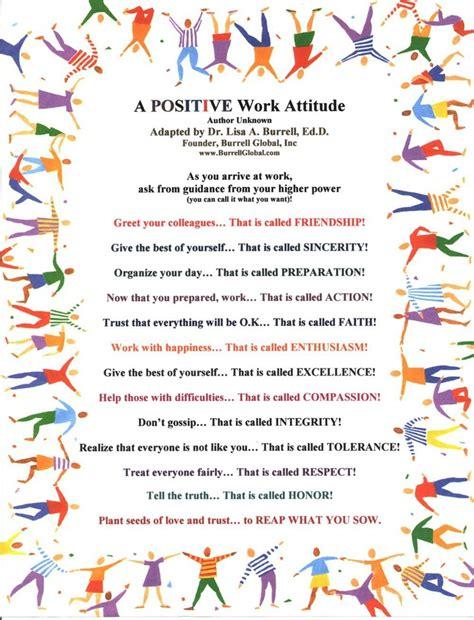 A Positive Work Attitude