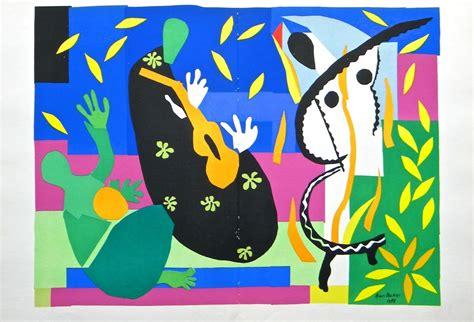 Henri Matisse Decoupage - henri matisse lithograph quot la tristesse du roi quot