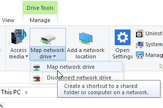 how to map a drive how to map a network drive using windows 10