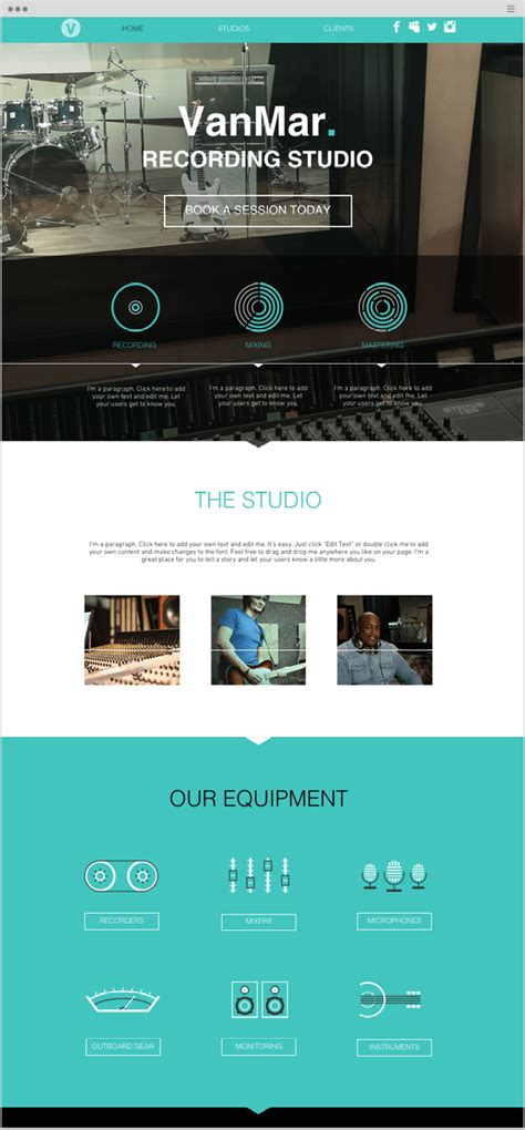 How To Create An Impressive Long Scrolling Website One Page Website Template Wix