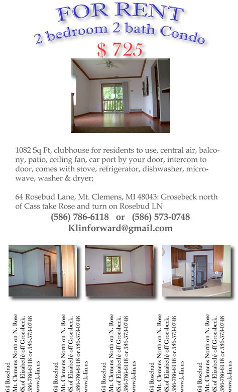 for rent flyer inenx