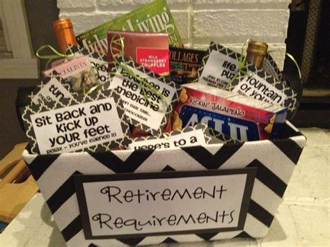 Retirement gift baskets and baskets on pinterest