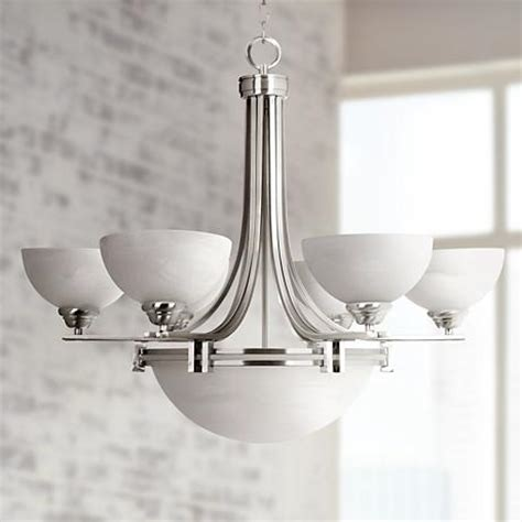possini lighting possini deco nickel collection 8 light chandelier 10816 ls plus