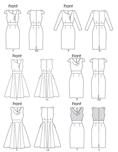 pattern line work vogue patterns 8787 misses dress