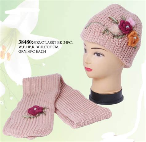 wholesale winter sets hat and scarf set