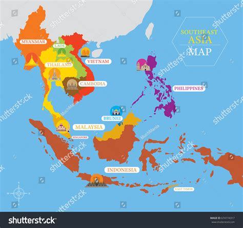 map of landmarks 2 asia landmarks map all world maps