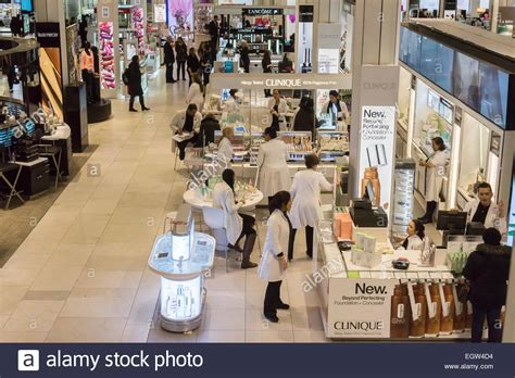 anthropologie store interior nyc stock photo royalty free image 60960993 alamy clinique and other cosmetics in the macy s herald square