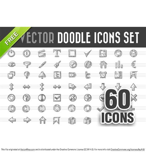 free doodle vector set free doodle icons vector set