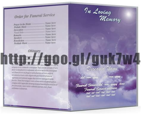 free funeral program template word archives