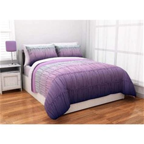 ombre bedding sets latitude ombre ruched reversible complete bedding set purple bedding sets bedding