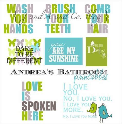free kids bathroom printables 4 best images of free bathroom printables wall art free printable wall art decor