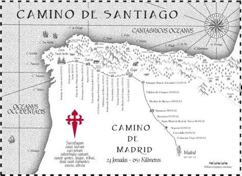 best gifts for the camino de santiago pilgrim camino de santiago pilgrim souvenir antique like gift map