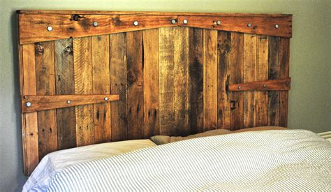 Rustic Wood Headboards by Rustic Headboard Reclaimed Wood With Non By