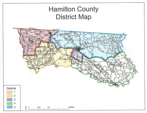 hamilton county texas map county district map