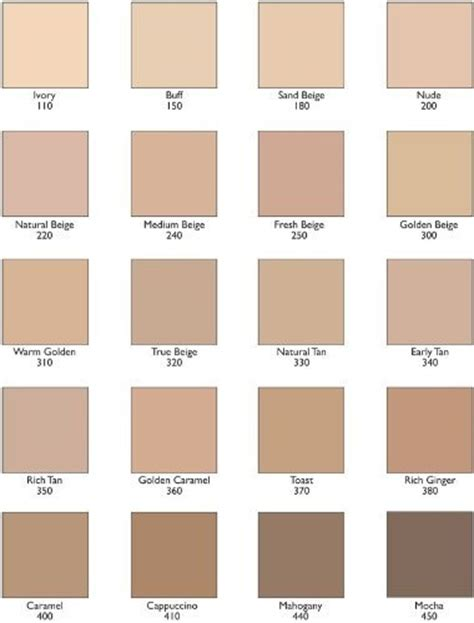 the natural tones from ivory to beige to taupe are revlon colorstay foundation light sand beige dark