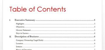 Table Of Contents Word 2013 Template by How To Create Table Of Contents In Word 2013 Toc Office