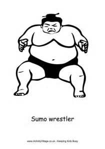 Sumo Wrestler Coloring Page sketch template