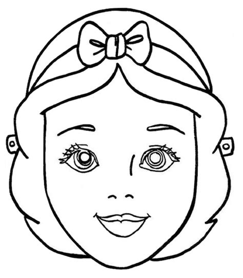 disney princess printable mask coloring pages