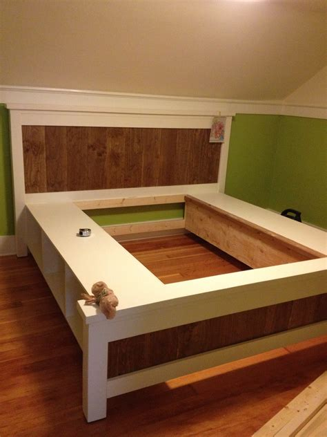 King Platform Bed Frame Plans King Size Platform Bed Frame Plan Design Picture With Storage Decofurnish