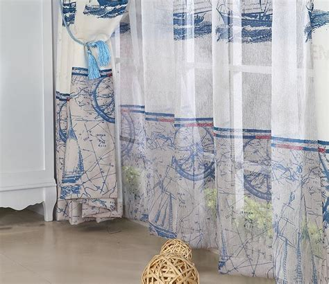 nautical blue curtains refreshing blue white poly cotton nautical curtains