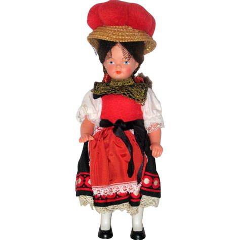 black doll 1960 1960 s german black forest souvenir doll from