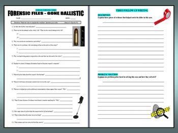 ballistics worksheet forensics ballistics worksheets high school forensics