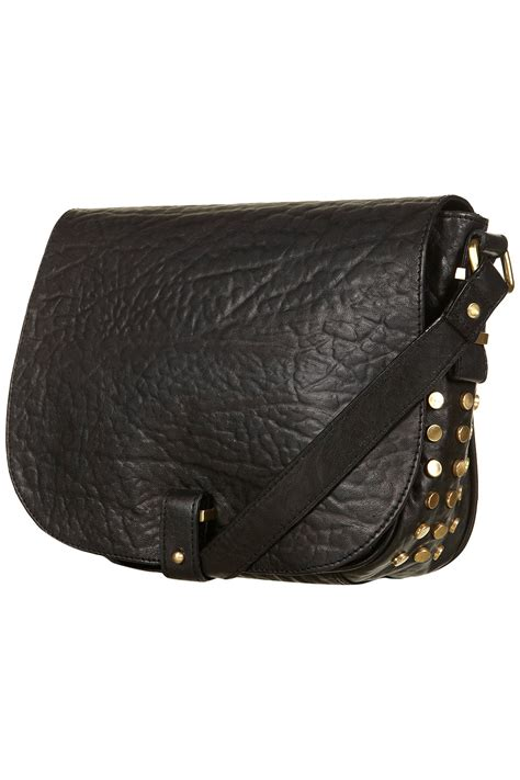Is Kate Moss For Topshops Studded Pouch Handbag A Complete Rip by Topshop Black Leather Stud Crossbody Bag In Black Lyst