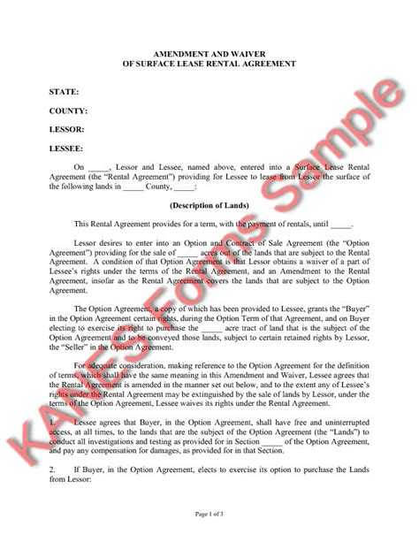 Contract Amendment Letter amendment to lease agreement free printable documents